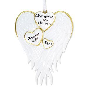 Christmas in Heaven Hand-Lettered Christmas Ornament