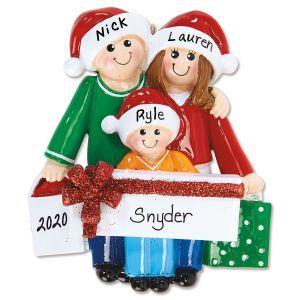 Gift Family Hand-Lettered Christmas Ornament