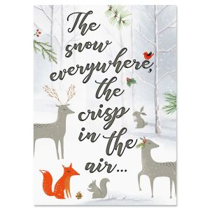 Snow Everywhere Religious Christmas Cards