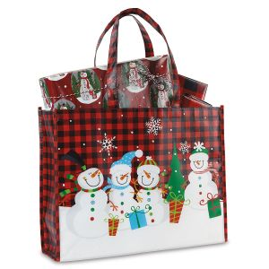 Snowman Shopping Tote with Gift Wrap