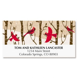 Cardinal Forest Deluxe Address Labels