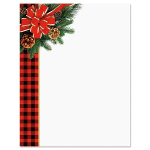 Warm Flannel Christmas Letter Papers