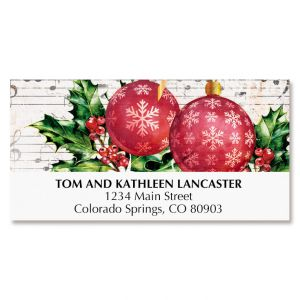 Music & Ornaments Deluxe Address Labels
