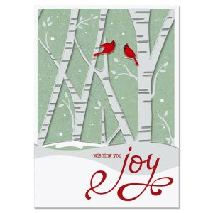 Birch Forest Deluxe Foil Christmas Cards