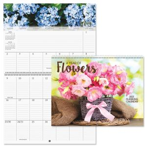 2021 A Year of Flowers Big Grid Planning Calendar