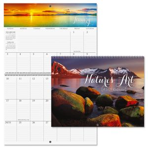 2021 Nature's Art Big Grid Planning Calendar