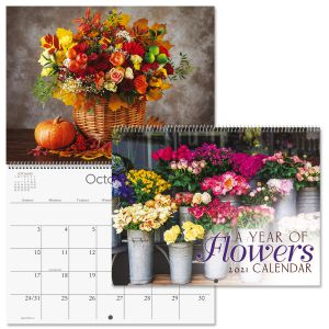 2021 A Year of Flowers Wall Calendar