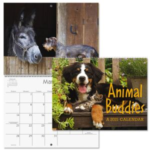 2021 Animal Buddies Wall Calendar