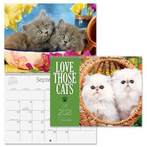 2021 Love Those Cats Wall Calendar