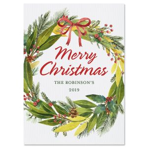 Wishes Wreath Christmas Cards
