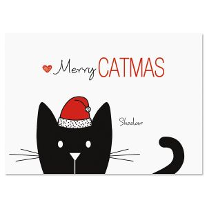 Cat Family Holiday Christmas Cards