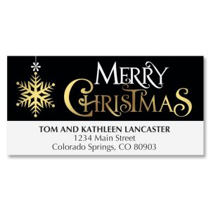 Festive Holiday Deluxe Address Labels