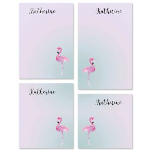 Single Flamingo Personalized Notepad Set