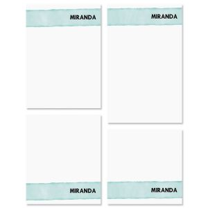 Watercolor Wash Personalized Notepad Set