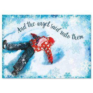 Snow Angel Religious Christmas Cards