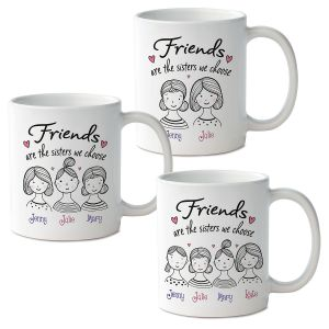 Friends Are the Sisters Personalized Mug