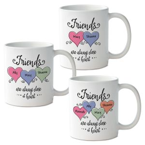 Friends Close At Heart Personalized Mug