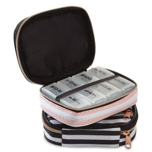 Bold Stripe Travel Pill Case