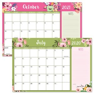 2020-2021 Floral Fantasy Calendar Pad
