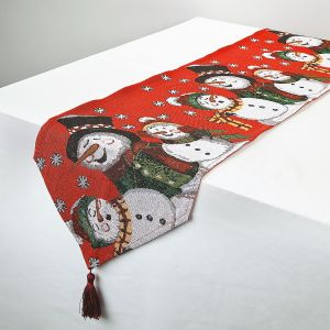 Woven Snowman Table Runner