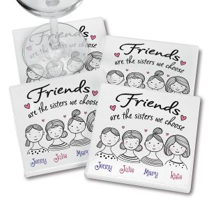 Friends Faces Personalized Ceramic Coasters