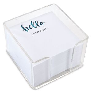 Hello Personalized Note Sheets in a Cube