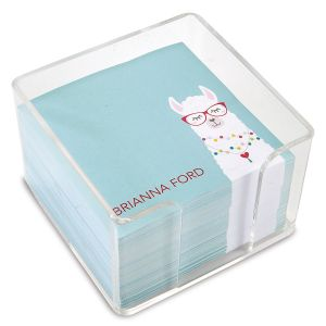 Simple Llama Personalized Note Sheets in a Cube