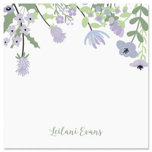Wildflowers Personalized Note Sheets in a Cube