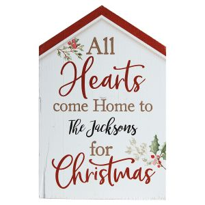 All Hearts Come Home Personalized Plaque