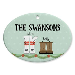 Boot Family Personalized Ornament