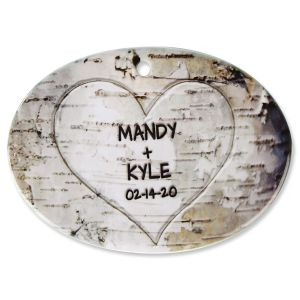 Heart Carving Personalized Ornament
