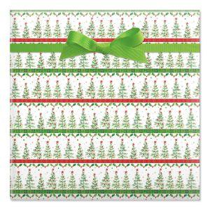 Christmas Trees Flat Gift Wrap