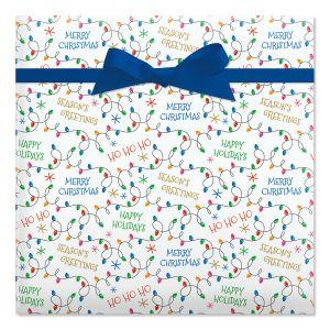 Ho Ho Ho Flat Gift Wrap