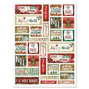 Festive Christmas Word Stickers