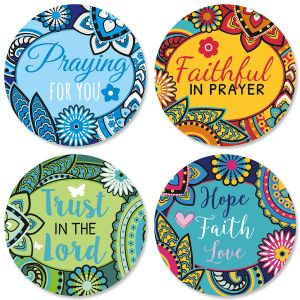 Paisley-Border Faith Seals (4 Designs)