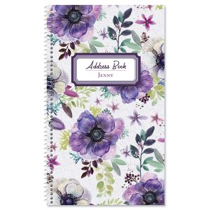 Violet Motif Address Book