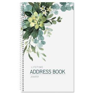 Olive Bloom Address Book