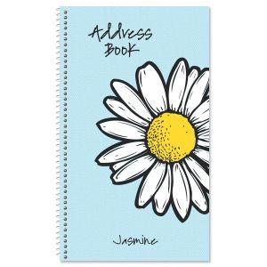 Textile Daisy Address Book