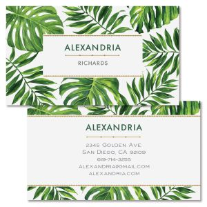 Tropical Palms Double-Sided Business Card