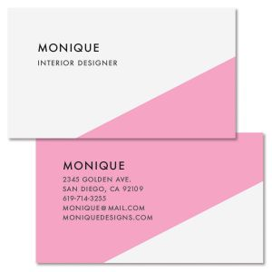 Pink Bevel Double-Sided Business Card