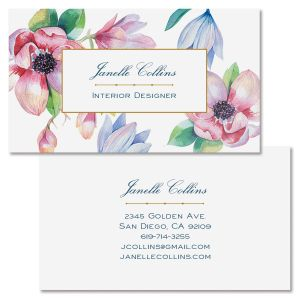Magnolia Double-Sided Business Card