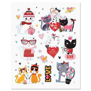 Valentine Cats Magnets