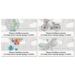 Fly Away Deluxe Address Labels