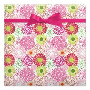Floral Burst Jumbo Rolled Gift Wrap