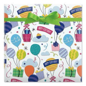 Birthday Gifts Jumbo Rolled Gift Wrap