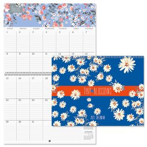 2021 Tiny Blossoms Big Grid Planning Calendar