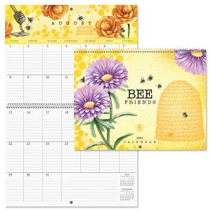 2021 Bee Friends Big Grid Planning Calendar