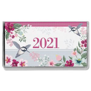 2021 Painted Petals Pocket Calendar