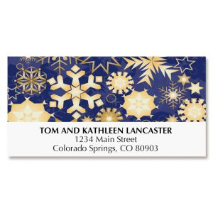Snowflake Tree Deluxe Address Labels