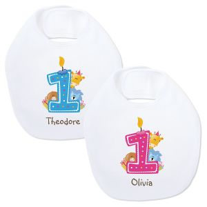 Baby's 1st Birthday Personalized Bib